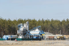 Pianta modulare per la produzione di asfalto Immagini Stock