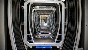 Pianta per la produzione delle automobili di sottopassaggio fotografie stock libere da diritti