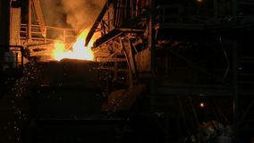 Pianta per la produzione di metallo fotografia stock