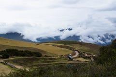Piantagioni nella montagna fotografie stock