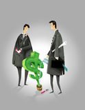 Piantatura dei soldi Immagini Stock