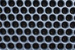 Piantatura del seme che avvia i vassoi Vassoio per le piantine Cassetto nero Piantine agricole di plastica dell'attrezzatura immagine stock