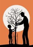 Piantatura dell'albero Fotografie Stock