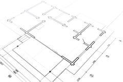Piante architettoniche illustrazione vettoriale