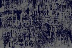 Piante contro la disposizione della fonte tipografica Fotografia Stock