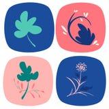 Piante dell'icona della primavera messe Fotografia Stock Libera da Diritti