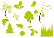 Piante e disegni della vegetazione Illustrazione Vettoriale