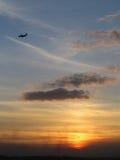 Pianura & tramonto Fotografie Stock Libere da Diritti