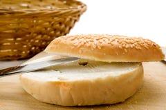 Pianura del bagel Fotografia Stock Libera da Diritti