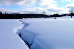 Pianura della neve Immagine Stock