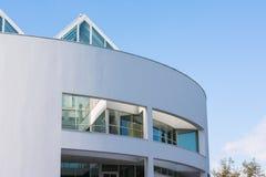 Pianura moderna Ulm circolare bianco Sunny Day di architettura Fotografia Stock Libera da Diritti