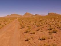 Pianura piana nel Nord dell'Argentina fotografie stock