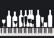 Piaono Bar. Illustration on black stock illustration