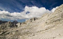 Piarg i niebieskie niebo Obrazy Stock