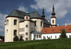 Piarist church in Litomysl Royalty Free Stock Images