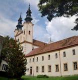 Piarist monsatery i Podolinec Slovakien Arkivbilder