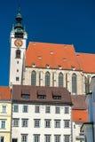 Piaristenkirche或Frauenbergkirche,一个教会在Krems上午Donau,奥地利 图库摄影