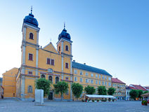 Piaristic church of St. Frantiska Xavarskeho in Trencin Stock Photo