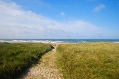 Piasek ścieżka prowadzi Północny morze Zdjęcia Royalty Free