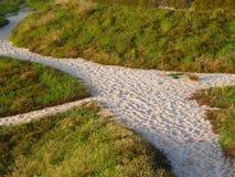 Piasek ścieżki przez diun Zdjęcie Royalty Free