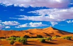 Piasek diun Namib-Naukluft park narodowy, Namibia Zdjęcia Royalty Free