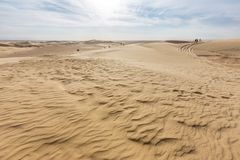 Piasek diuna sahara w Tunezja Obrazy Royalty Free