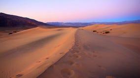 Piasek diuny, Śmiertelny Dolinny park narodowy, Kalifornia, usa Obrazy Stock