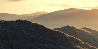 Piasek diuny krajobraz Zdjęcie Stock