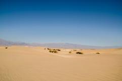 Piasek diuny krajobrazu Śmiertelny Dolinny park narodowy Zdjęcia Royalty Free