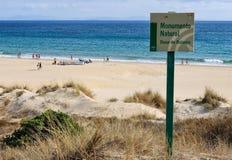 Piasek diuny na Bolonia plaży Zdjęcie Stock