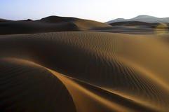 Piasek diuny pocierania Al Khali pustynia Zdjęcie Stock