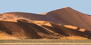 Piasek diuny przy Sossusvlei w Namib pustyni Fotografia Stock