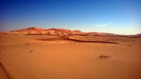 Piasek diuny przy Sunset-7: Pocierania Al Khali - panorama Obrazy Stock