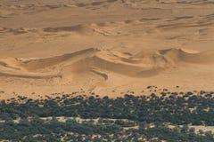 Piasek diuny przy Swakopmund rzeką Zdjęcie Stock