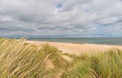 Piasek diuny przy Winterton na morzu obraz stock