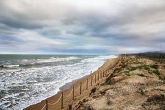 Piasek diuny w Guardamar del Segura plaży Alicante Zdjęcie Stock