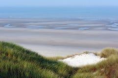 Piasek diuny w Picardy wybrzeżu Zdjęcia Royalty Free