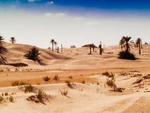 Piasek diuny w saharze blisko Douz Tunezja Afryka Zdjęcie Stock