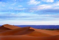 Piasek diuny w saharze, Maroko Obrazy Royalty Free