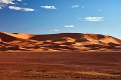 Piasek diuny w saharze, Merzouga Obraz Stock