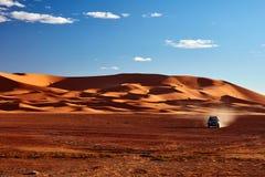 Piasek diuny w saharze, Merzouga Zdjęcie Stock