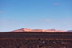 Piasek diuny w saharze, Merzouga Zdjęcie Royalty Free
