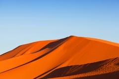 Piasek diuny w saharze w Afryka Obrazy Stock