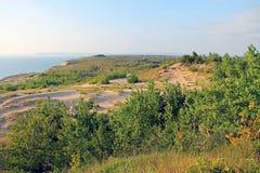 Piasek diuny Wzdłuż jezioro michigan, usa Obraz Royalty Free