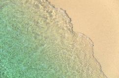 Piasek i błękitny morze Obrazy Stock