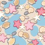 Piasek i seashell bezszwowi Zdjęcie Stock