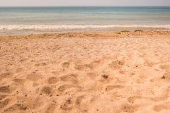 Piasek na morze plaży Obraz Stock