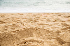 Piasek na plaży morze Fotografia Stock