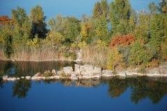 Piasek na rzece Zaporoskiej Fotografia Royalty Free
