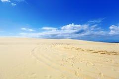 Piasek piękne diuny, Australia. Zdjęcie Stock